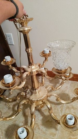 12 Light Golden Chandelier for Sale in Troy, IL