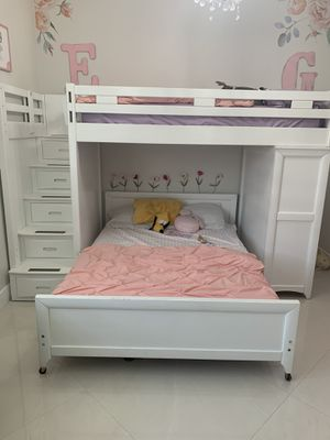 Bunk bed with twin/full for Sale in Miami, FL