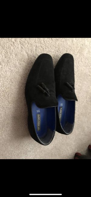 Black suede Loafers Sz 10 for Sale in Gaithersburg, MD