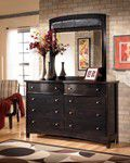 Night stand black harmony & black dresser with a mirror harmony for Sale in Anchorage, AK