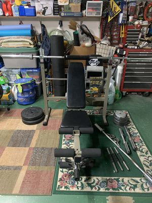 """""""Best Fitness"""" Folding Bench + Weider Weights for Sale in Fremont, CA"""