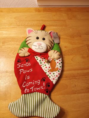 New Christmas stocking for cat for Sale in Portsmouth, VA