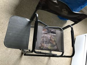 Heavy duty camp chair with side table for Sale in Wenatchee, WA