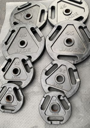 Vintage Jade Weight Plates Rubberized for Sale in Kent, WA