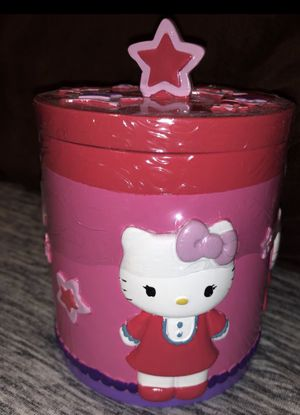 Hello Kitty covered jar with lid for Sale in Poinciana, FL