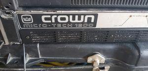 Crown Micro-Tech 1200w dj amplifier for Sale in Phoenix, AZ
