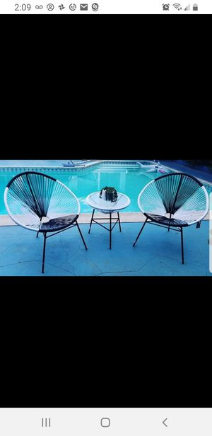 Acapulco Mid-century Patio Chairs and side table for Sale in Los Angeles, CA