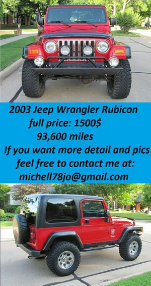 GreatShape2003*JeepWranglerRubicon*FirstOwnerr for Sale in New York, NY