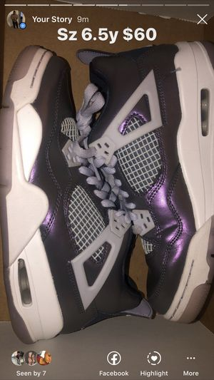Metallic 4s sz6.5 y for Sale in Mint Hill, NC