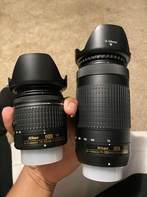 Nikon lens 70-300mm & 18-55mm for Sale in Houston, TX