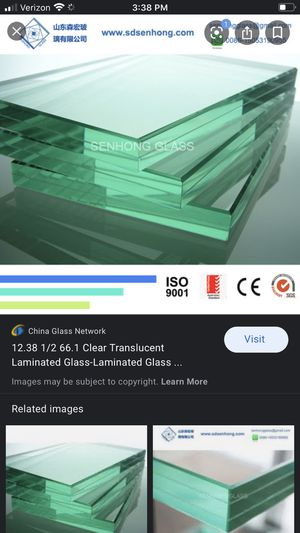 """1/2"""" thick laminated glass for Sale in Hamilton Township, NJ"""