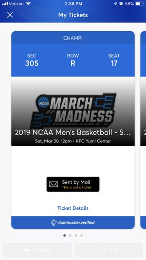 NCAA South Regional in Louisville for Sale in Richmond, KY