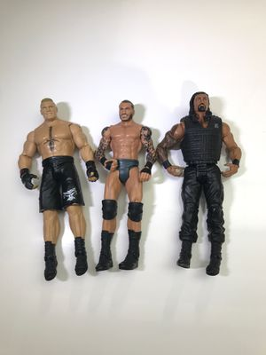 Brock Lesnar, Randy Orton, Roman Reigns Action Figures for Sale in Arlington, VA