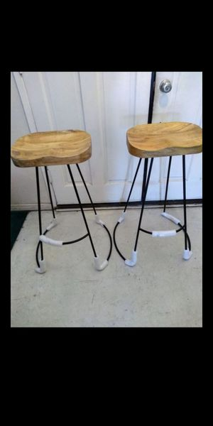 NEW Bar stools Set of Two Wood and Metal backless Kitchen stools modern for Sale in Claremont, CA