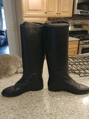 Womens Tall Dressy Black Leather Boots from Greece for Sale in Tremont, IL