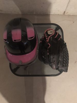 Softball glove and helmet for Sale in Crest Hill, IL
