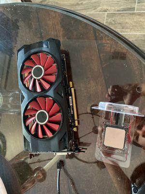 Computer parts ryzen 3 2200g nzxt fan, rx 570 8gb for Sale in ESTERO, FL