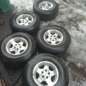 2000 Five Jeep wrangler wheels for Sale in Aurora, CO