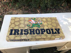 Vintage 1992 Notre Dame Fighting Irish Irishopoly brand new Board Game for Sale in Cinnaminson, NJ