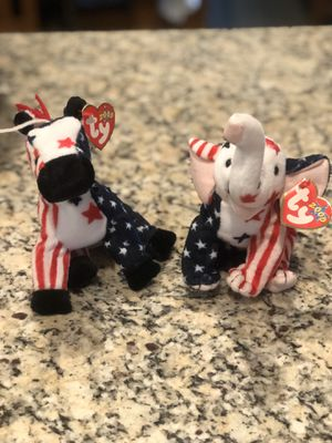 Lefty and righty Beanie Baby for Sale in Bolingbrook, IL