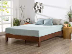 "NEW KING size Wood platform bed frame, Antique Espresso Finish $100 Or with 10"" Mattress king size $300 for Sale in Columbus, OH"