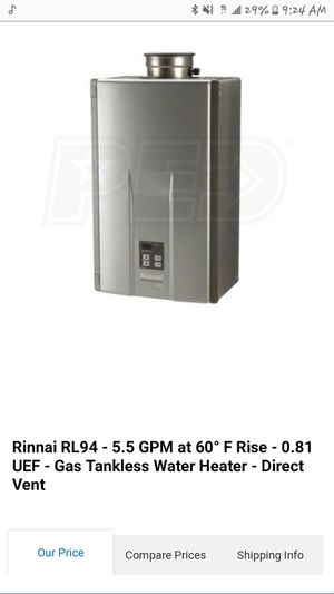 Rinnai Tankless Water Heater for Sale in Seattle, WA