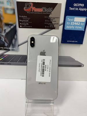 iPhone X 256GB silver AT&T,Cricket, tractphone for Sale in Las Vegas, NV