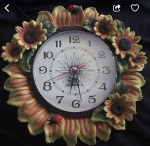 Beautiful Antique Ceramic Sunflower Clock for Sale in Fort Lauderdale, FL