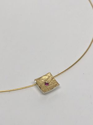 Silver and Gold Ruby Pendant for Sale in Covina, CA