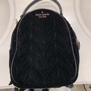 KateSpade Briar Lane Quilted Velvet Mini Convertible Backpack, Purse for Sale in Menifee, CA