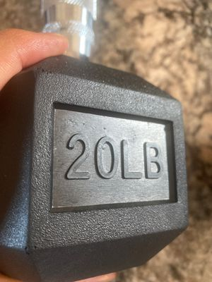 Brand New 20lb dumbbell pair. 40lbs total. for Sale in San Lorenzo, CA
