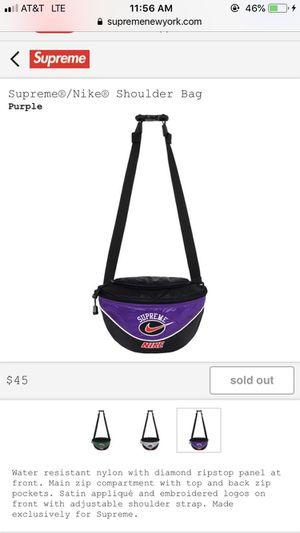 Supreme Nike Shoulder Bag Purple *new* for Sale in Fairfax, VA