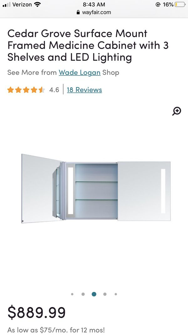 LED Medicine Cabinet w/ 3 Shelves