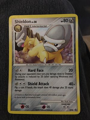 Mint Shieldon Lv. 26 DP08 Pokemon card Holo for Sale in Midlothian, VA