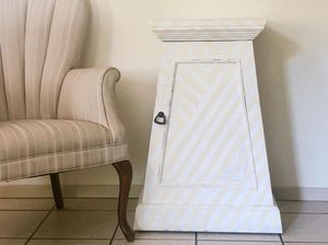 Southwest Farmhouse Accent Table, Entryway, Side Table, Record Stand, Nightstand for Sale in Austin, TX