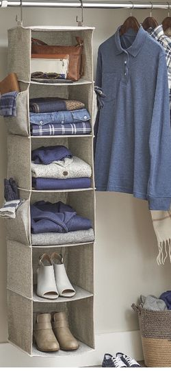 Better Home & Garden Charleston Collection 6 Shelf Closet Organizer, Grey for Sale in Cary,  NC