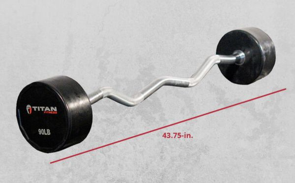 90 lbs fixed curl bar fixed barbell new in box
