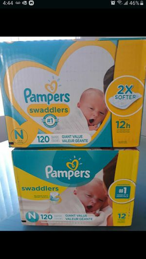 Pampers swaddlers newborn 120 count $20 for Sale in Las Vegas, NV