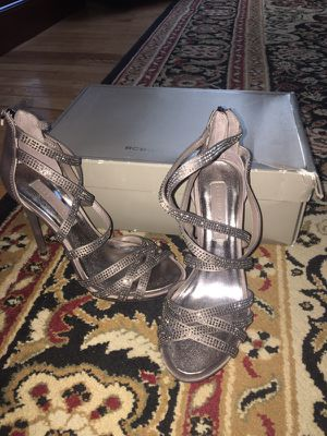 Bcbg size six silver shoe worn once for Sale in Boston, MA