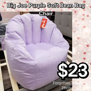 NEW Big Joe Lilac Purple Soft Bean Bag Chair: njft kids for Sale in Burlington, NJ