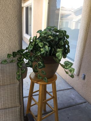 Brown plastic pot and fake plant for Sale in North Las Vegas, NV