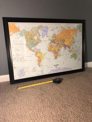 World Map - Framed for Sale in Alexandria, VA