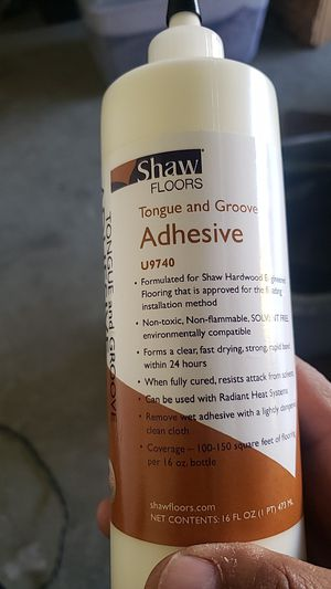 Shaw tongue and groove glue for Sale in Tracy, CA