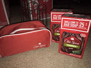 🔴Old Spice travel bag & 2- 6pk old spice Timber bar soap $8 for Sale in Rolling Meadows, IL