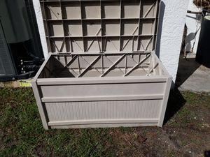 Suncast pool deck box or outside storage trunk container box for Sale in Seminole, FL