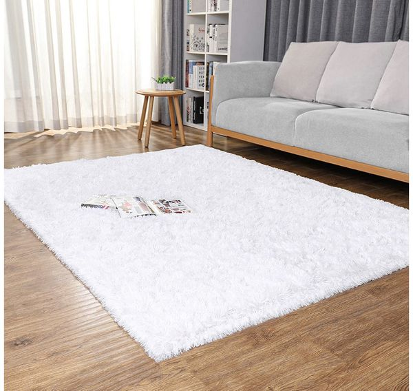 Brand New Machine Washable Area Rugs for Living Room, Ultra-Luxurious Soft and Thick Faux Fur Shag Rug Non-Slip Carpet for Bedroom,Home Decor Rug, 4x5