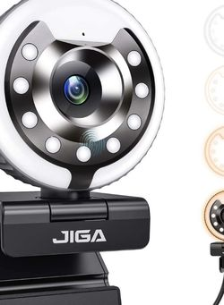 1080P Webcam with Ring Light and Microphone for Sale in Pico Rivera,  CA