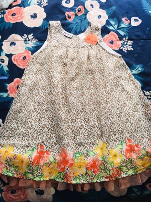 Little girl cheetah flower print dress SIZE 5 for Sale in San Antonio, TX