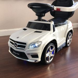 4 In 1 Mercedes Benz Push Car Stroller W/LED Lights for Sale in Coyote, CA