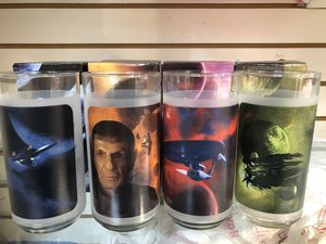 NEW set of collectible glass Star Trek glasses for Sale in Margate, FL